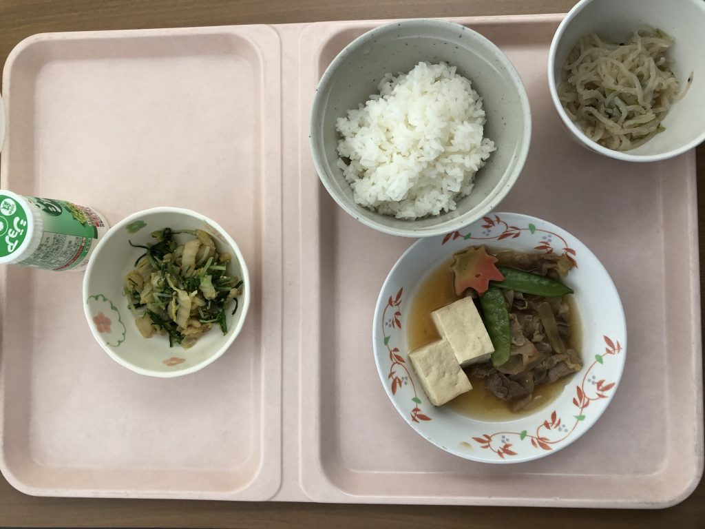入院食1日目のお昼