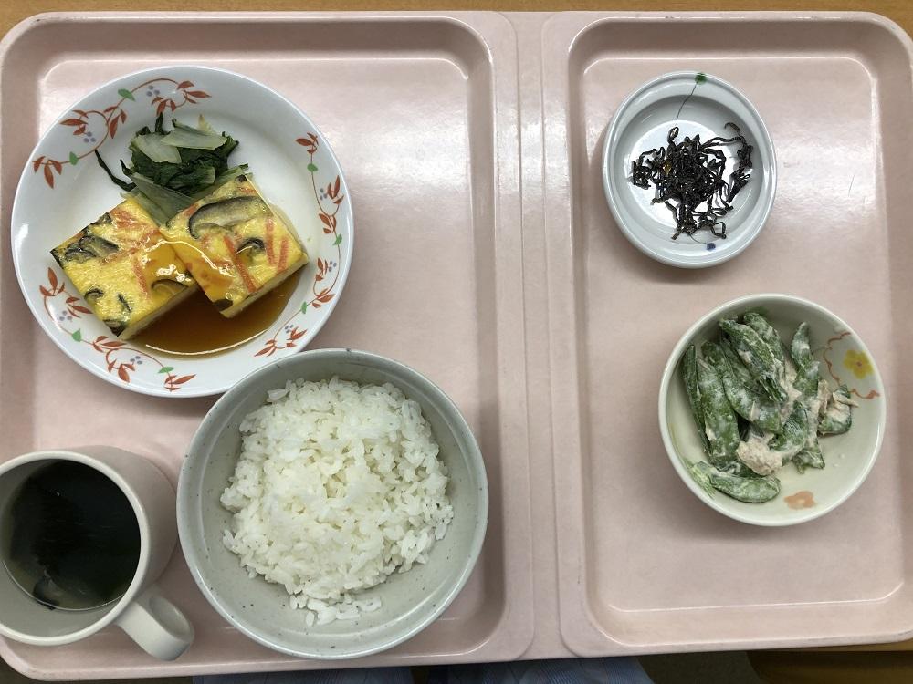入院食1日目の晩御飯