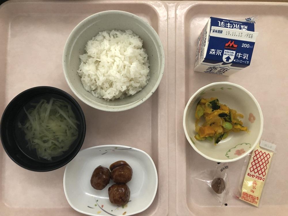 入院食2日目の朝御飯