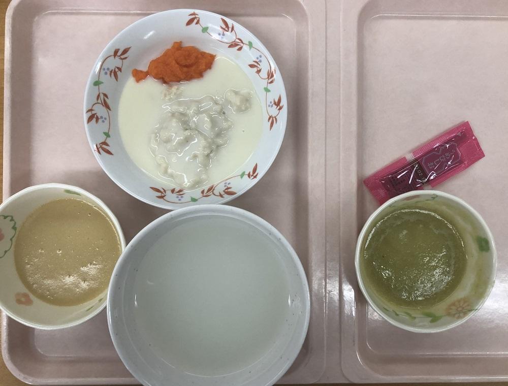 阪大病院のお昼ご飯(三分がゆ)
